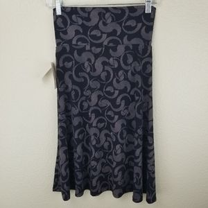 Lularoe Azure Gray Black Circles Skirt Size XS